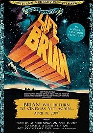 """Movie poster for """"MONTY PYTHON'S LIFE OF BRIAN (40th Anniversary Edition)"""""""