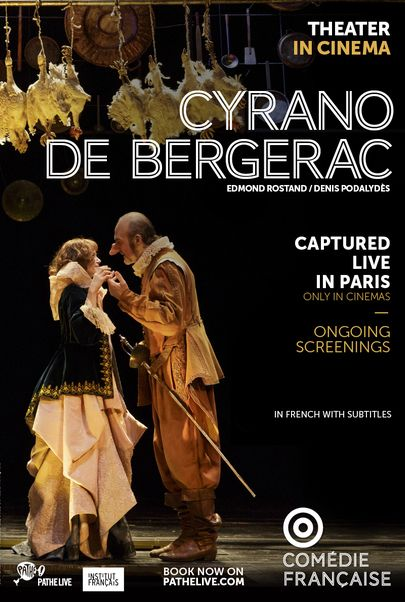 "Movie poster for ""CYRANO DE BERGERAC - Comedie Francaise"""