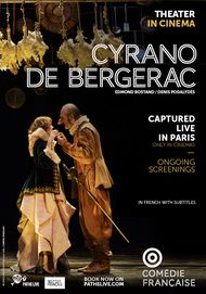 "Movie poster for ""CYRANO DE BERGERAC (COMEDIE FRANCAISE / PATHE LIVE)"""
