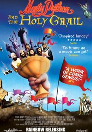 "Movie poster for ""MONTY PYTHON AND THE HOLY GRAIL"""