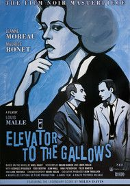 "Movie poster for ""ELEVATOR TO THE GALLOWS"""