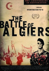 "Movie poster for ""THE BATTLE OF ALGIERS"""