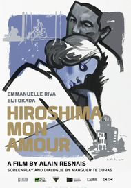 "Movie poster for ""HIROSHIMA MON AMOUR"""