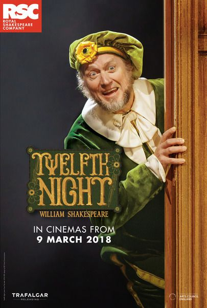 "Movie poster for ""TWELFTH NIGHT - Royal Shakespeare Company 2017-18"""