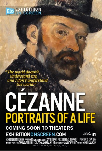 "Movie poster for ""CEZANNE - PORTRAITS OF A LIFE"""