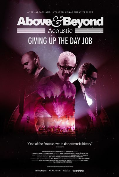 "Movie poster for ""ABOVE & BEYOND ACOUSTIC: GIVING UP THE DAY JOB"""