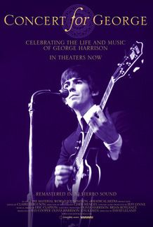 """Movie poster for """"CONCERT FOR GEORGE"""""""