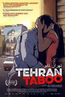 "Movie poster for ""TEHRAN TABOO"""