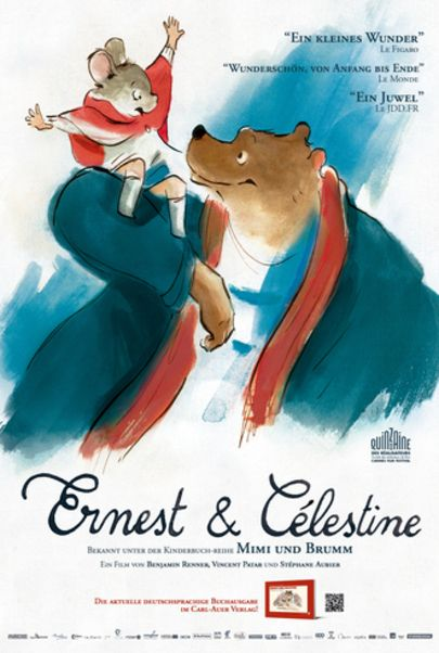 "Movie poster for ""Ernest et Célestine"""