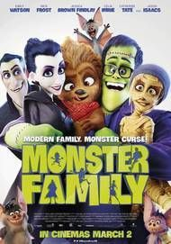 "Movie poster for ""MONSTER FAMILY"""