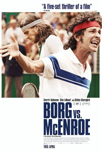 "Movie poster for ""BORG VS. MCENROE"""