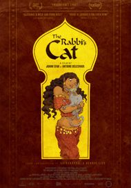 "Movie poster for ""THE RABBI'S CAT"""