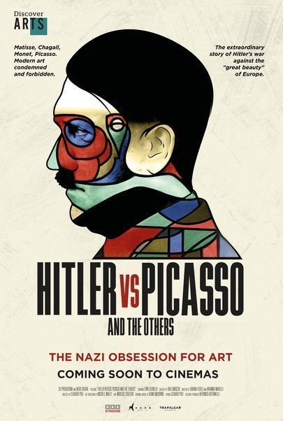 "Movie poster for ""DISCOVER ARTS: HITLER VS PICASSO AND THE OTHERS"""