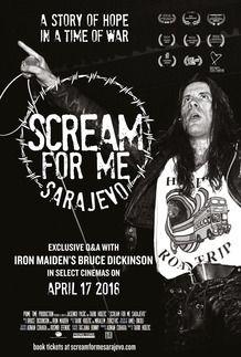 "Movie poster for ""SCREAM FOR ME SARAJEVO"""