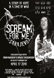 "Movie poster for ""SCREAM FOR ME SARAJEVO"""