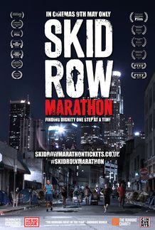 "Movie poster for ""SKID ROW MARATHON"""