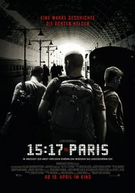 "Movie poster for ""The 15:17 to Paris"""