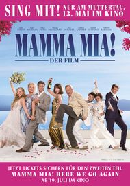 "Movie poster for ""Mamma mia! Sing-along Version"""