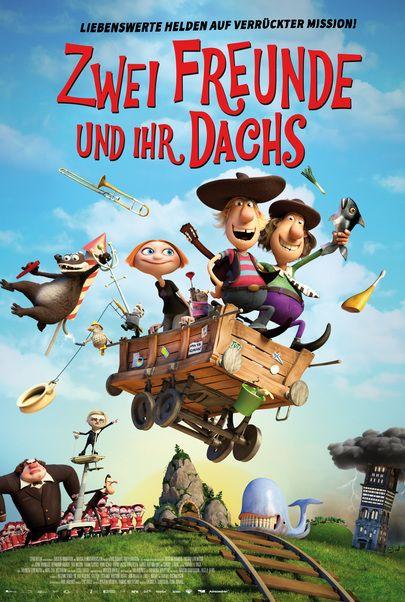 """Movie poster for """"Zwei Freunde und ihr Dachs"""""""