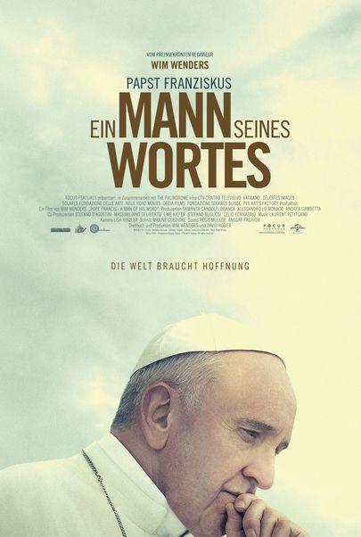 """Filmplakat für """"Papst Franziskus - Ein Mann seines Wortes"""""""