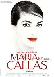 """Filmplakat für """"MARIA BY CALLAS"""""""