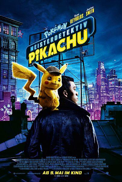 "Filmplakat für ""Pokémon Meisterdetektiv Pikachu"""