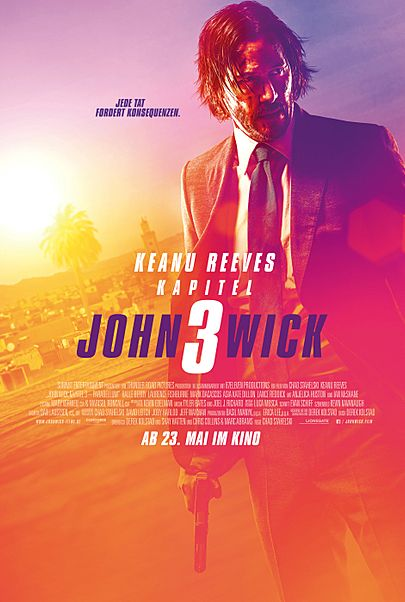 "Movie poster for ""JOHN WICK : CHAPTER 3 - PARABELLUM"""