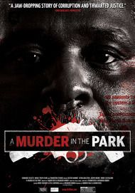 "Movie poster for ""A MURDER IN THE PARK"""