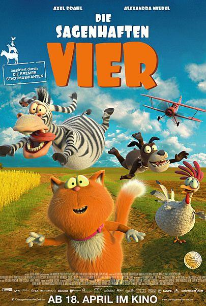 """Filmplakat für """"DIE SAGENHAFTEN VIER"""""""