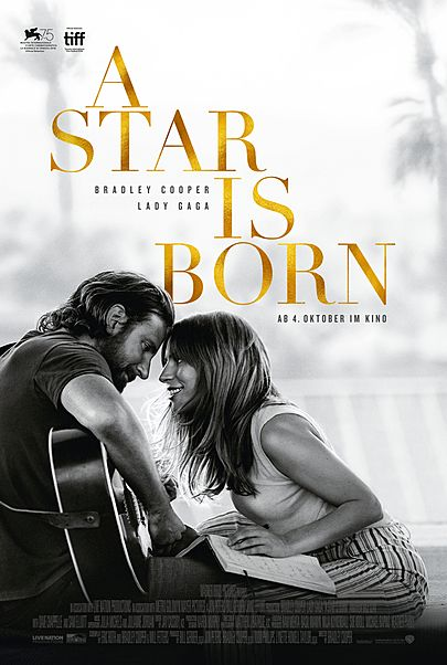 "Movie poster for ""A STAR IS BORN"""
