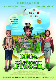 """Movie poster for """"Hilfe, unser Lehrer ist ein Frosch!"""""""