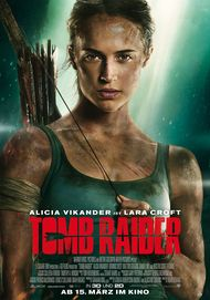 "Movie poster for ""TOMB RAIDER"""