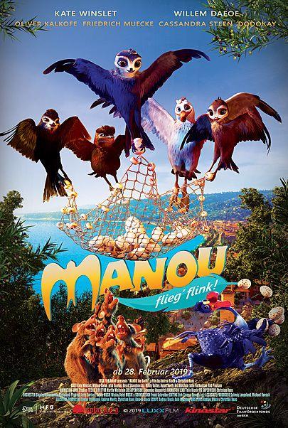 """Filmplakat für """"Manou - flieg' flink!"""""""