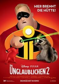 "Movie poster for ""THE INCREDIBLES 2"""