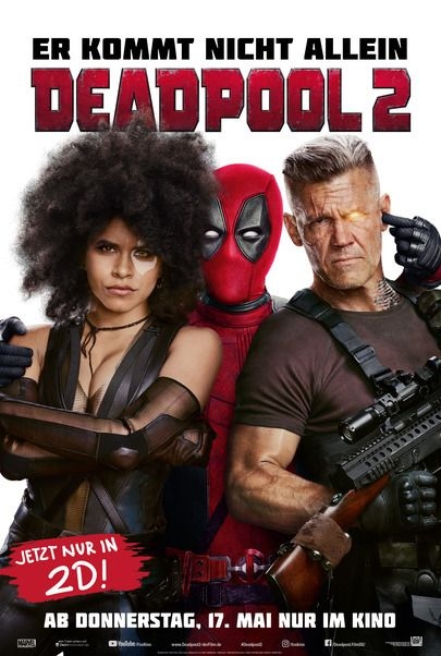 "Movie poster for ""DEADPOOL 2"""