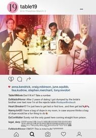"""Filmplakat für """"Table 19 - Liebe ist fehl am Platz"""""""